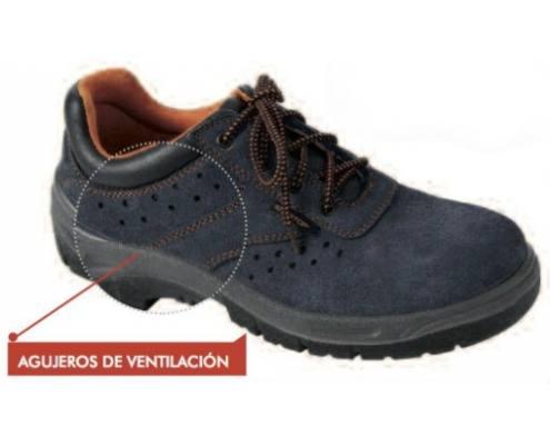 Zapato Serraje Perforado Azul -S1P-
